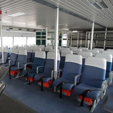 Comfort on board : the seats inside the Cabestan